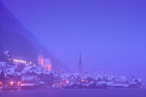 lake church fog canon austria österreich village canonef2470mmf28lusm oberösterreich salzkammergut hallstatt upperaustria hallstättersee canoneos50d canon50d