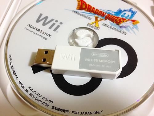 ドラゴンクエストX ベータディスクと Wii USB メモリー