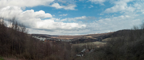 panorama clouds buildings town unitedstates pennsylvania mining powerplant hugin windber industrialbuildings mine40 smcpa28mmf28 panoramaoutput