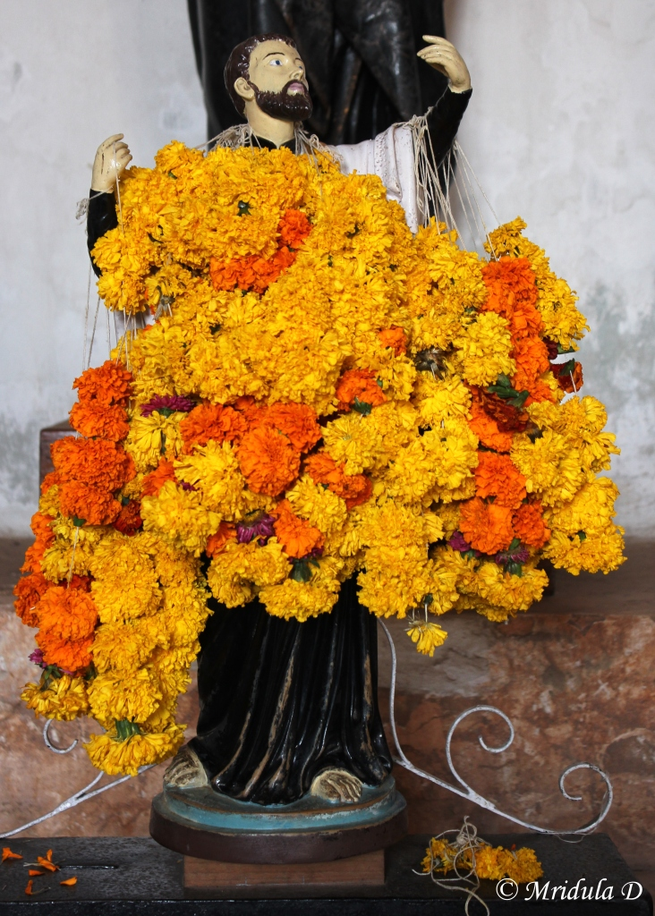 Garlands Offered at the Basilica of Bom Jesus, Goa, India
