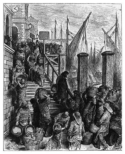 018-Billingsgate llegada del pescado-London A Pilgrimage 1890- Blanchard Jerrold y Gustave Doré- © Tufts Digital Library