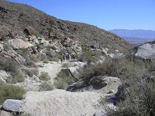 Hiking up Hellhole Canyon, Anza-Borrego Desert State Park, California