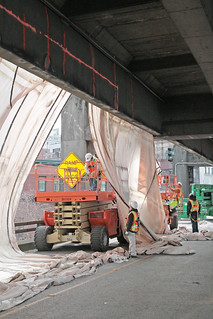 Preparing for tunneling - reinforcing the viaduct