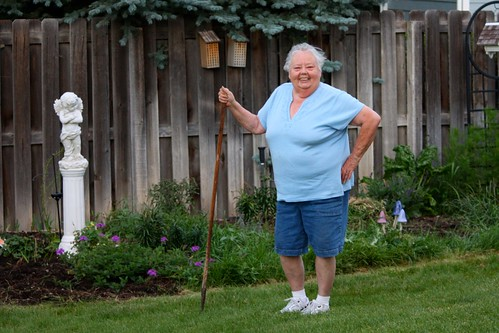 Suzi gardening