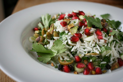 Basmati Rice Salad with Olives & Raisins