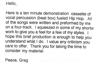 Greg's note