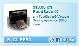 Foodsaver Vacuum Sealing Appliance $69 Or More.  Coupon