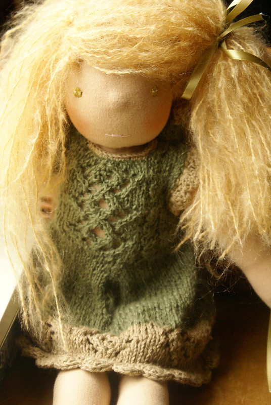 moss fay doll - organic waldorf doll