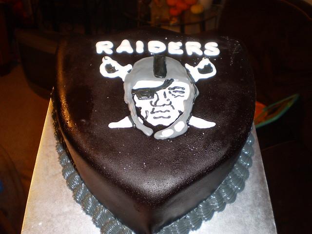 Raiders Birthday Cake