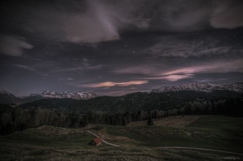Nightview to Karwendel