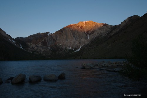 Convict lake Alpen glow