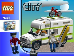 Lego City Camper Nr. 7639 recreated - Ford Econoline Campervan