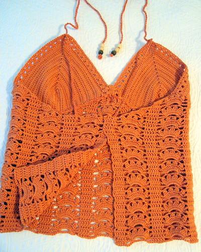 Crocheted Orange Halter