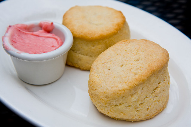 Biscuits with raspberry butter, Maggie Brown