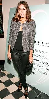 Olivia Palermo Tweed Jacket Celebrity Style Women's Fashion 2