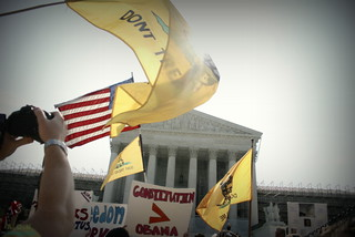 Flags wave high at the Supreme Court