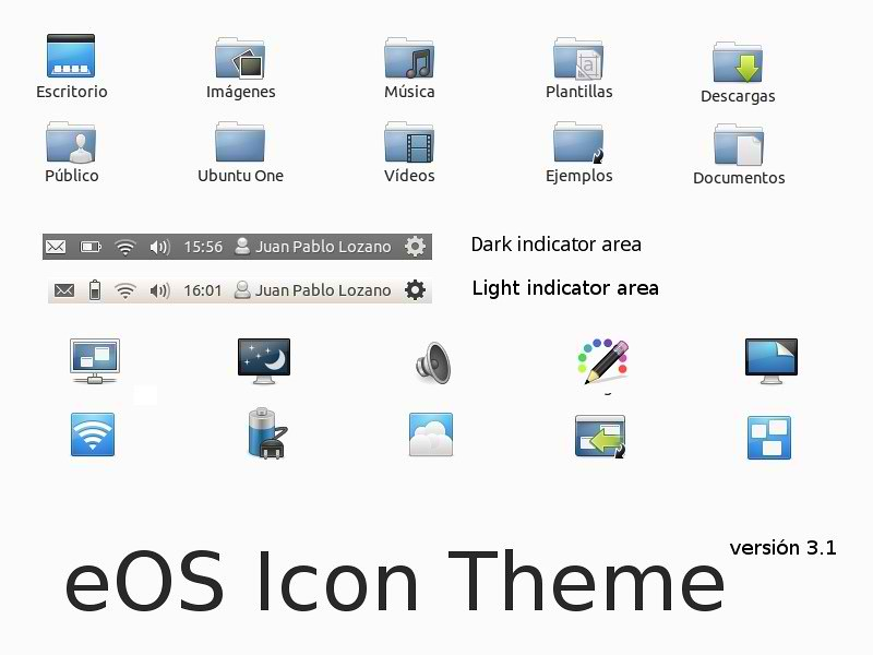 Install eOS Blue Icons in Ubuntu/Linux Mint - Just the Life