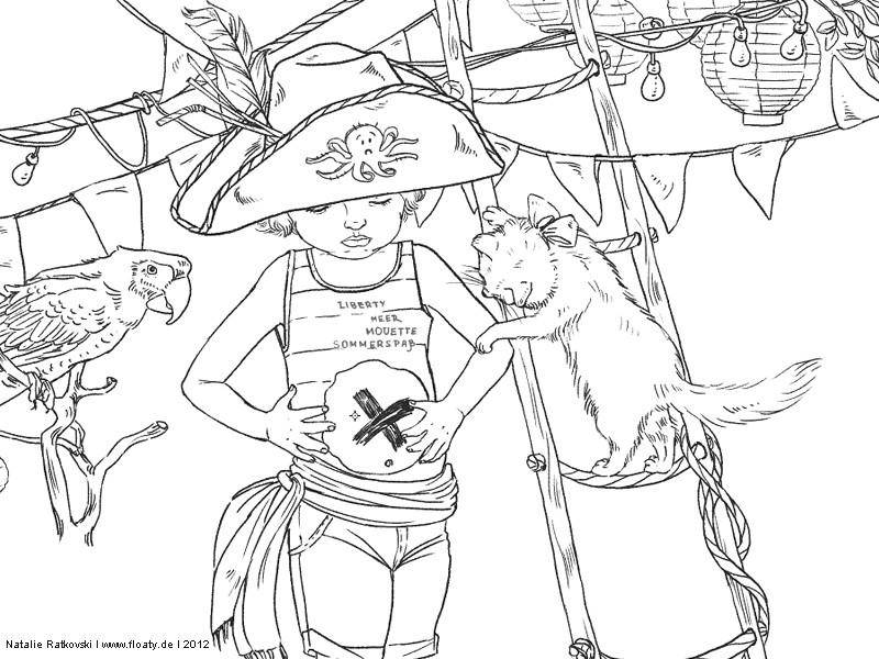 An illustration in progress