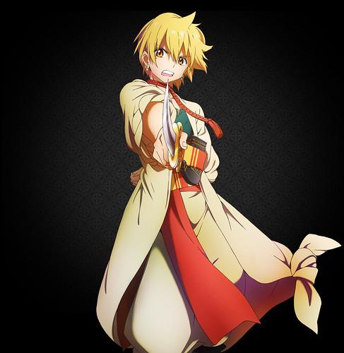 120704 - 10月份的電視動畫新作《マギ (MAGI魔奇少年)》正式公開第二男主角「阿里巴巴」的全身造型!
