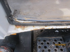 Driver side rear door rust