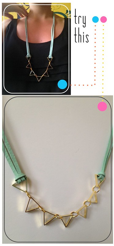 Try This - Cut Metal Necklace