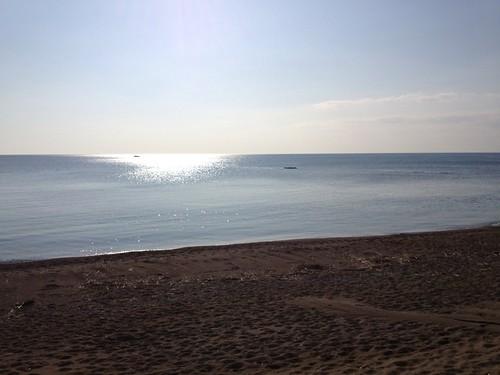江差の砂浜