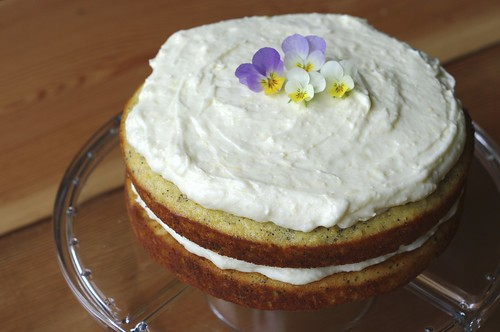 Lemon Poppy Seed Cake with Lemon Butter Cream Frosting