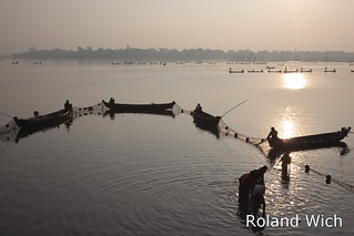 Amarapura - Fishing on Taungthaman Lake
