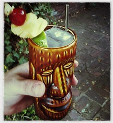 Mai Tai in an authentic Kahiki Tiki