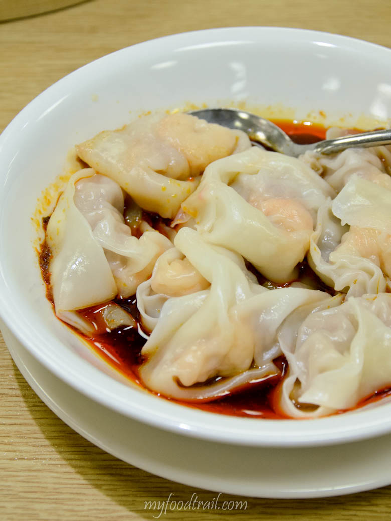 Din Tai Fung, Taiwan - Shrimp & pork wonton with spicy sauce