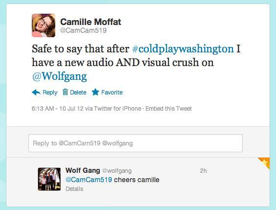 Wolf Gang Tweet
