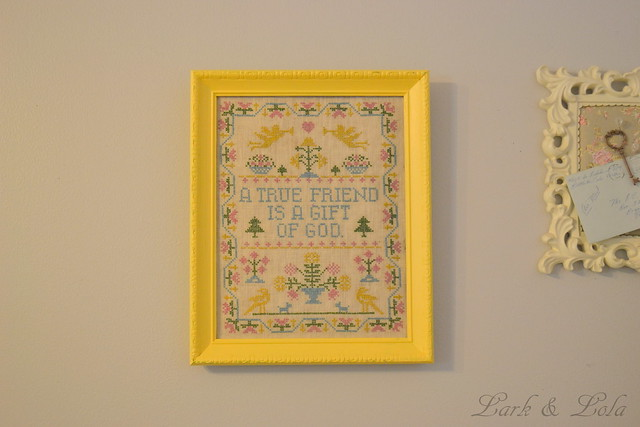 Vintage Cross-Stitch Art