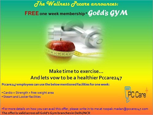 7 Days free Gym Membership by PCCare247