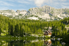 The mountain hut near Triglav lakes