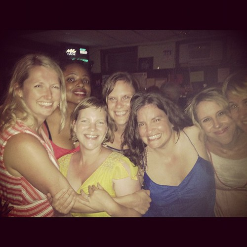 Sweaty and super fun dance party. @matirose @myriamjoseph @aliedwards @alexsegal_nyc @jen_gray @jenlemen @traceyclark