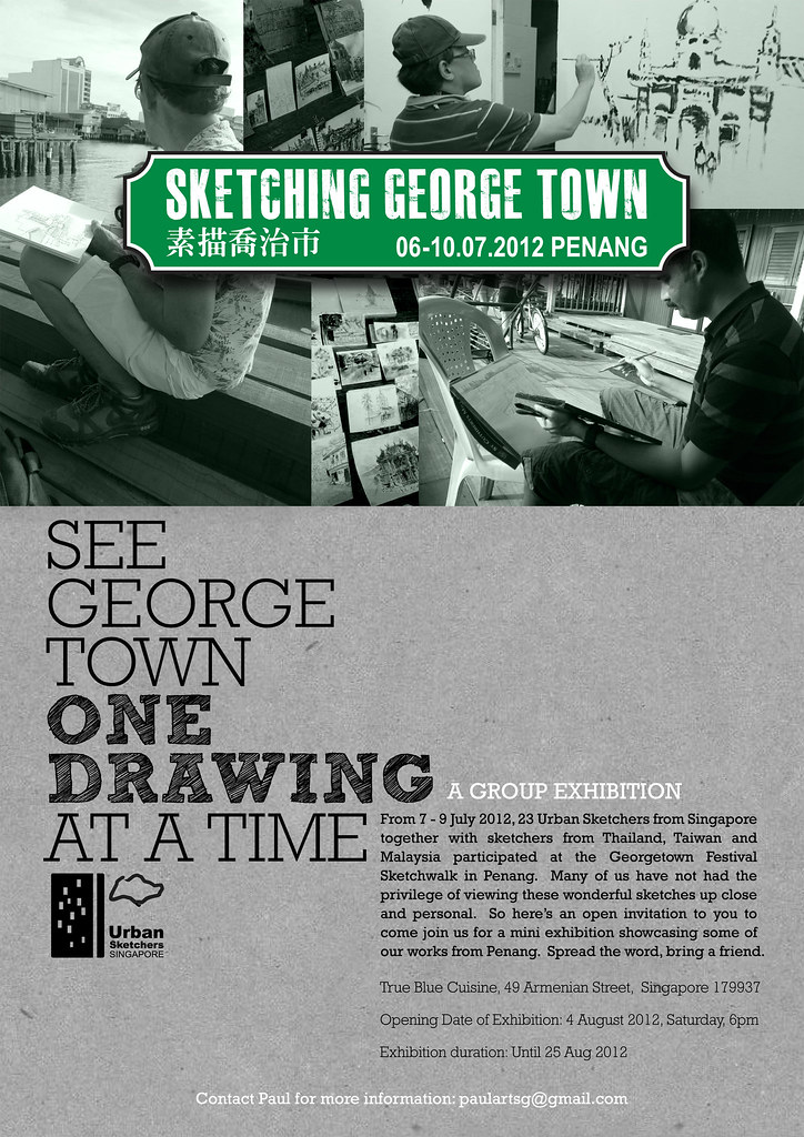 Sketching Georgetown exhibition in Singapore