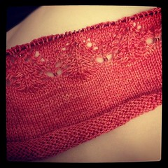 First lace repeat done! #ravellenic #ravellenicgames #knit #knitting