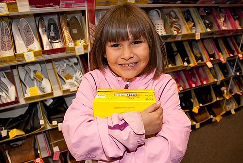 LANL Laces Shoe Drive: Girl with New Shoes
