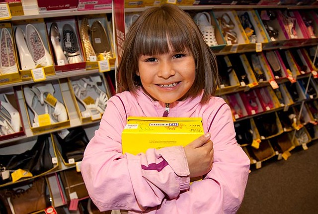 Through the generosity of our employees, many Northern New Mexico elementary students are fitted for a new pair of school shoes as part of LANL Laces. In 2011, almost 355 children received a new pair of shoes through the program.