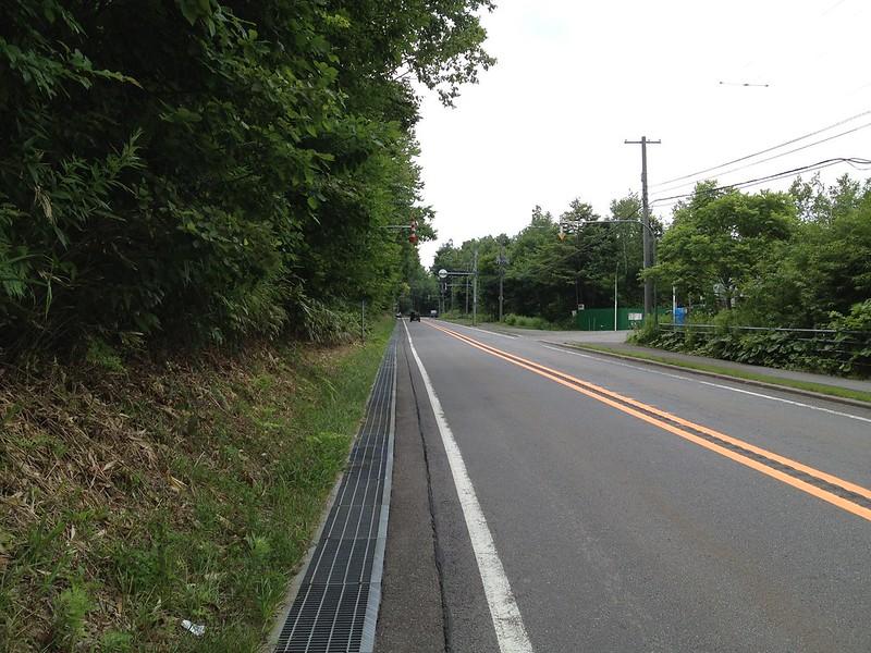 支笏湖へ続く道