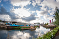 The Queens Barge at London 2012 Olympic Park