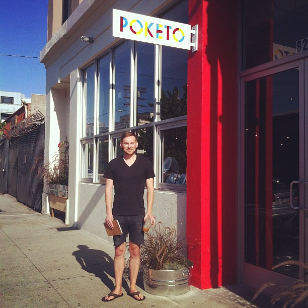 Just landed from New York @thisisforest stops in to plan future goodness #Poketo