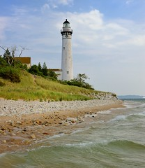 South Manitou Island Lighthouse Sleeping Bear Dunes National Lakeshore by Michigan Nut