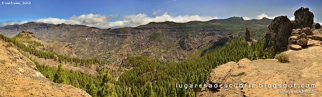 Pinos y rocas (Tejeda, Gran Canaria)