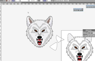 Arctic Wolves logo in progress