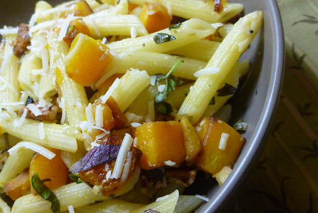 Penne Pasta with Roasted Butternut Squash and Pecans | Flickr - Photo ...