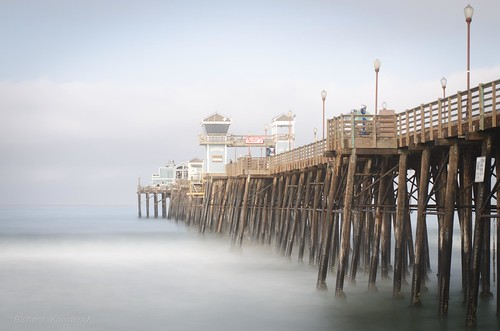ocean california old longexposure bridge blue sky copyright sunlight white motion black blur color green beach nature wet water up lines sign misty fog clouds pier daylight high fishing rust shiny soft waves pattern angle steel seagull bottom towers under wide perspective shoreline spray oceanside walkway foam edge dreamy pilings shallow splash rubys beams barnacle crossed nd110 richardkownacki