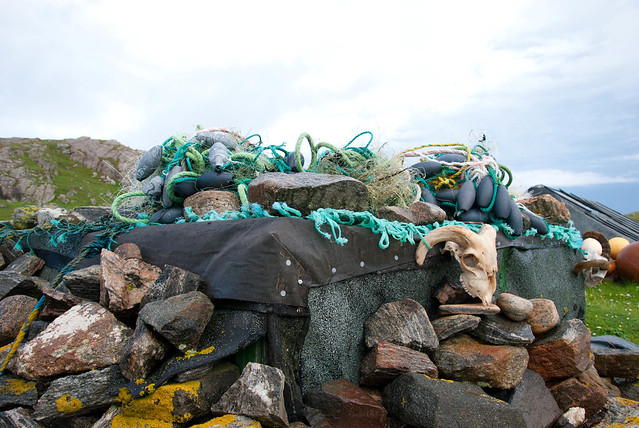 Rubbish and waste is washed up onto the shore of the Western Isles from all over the world - Trip to the Outer Hebrides