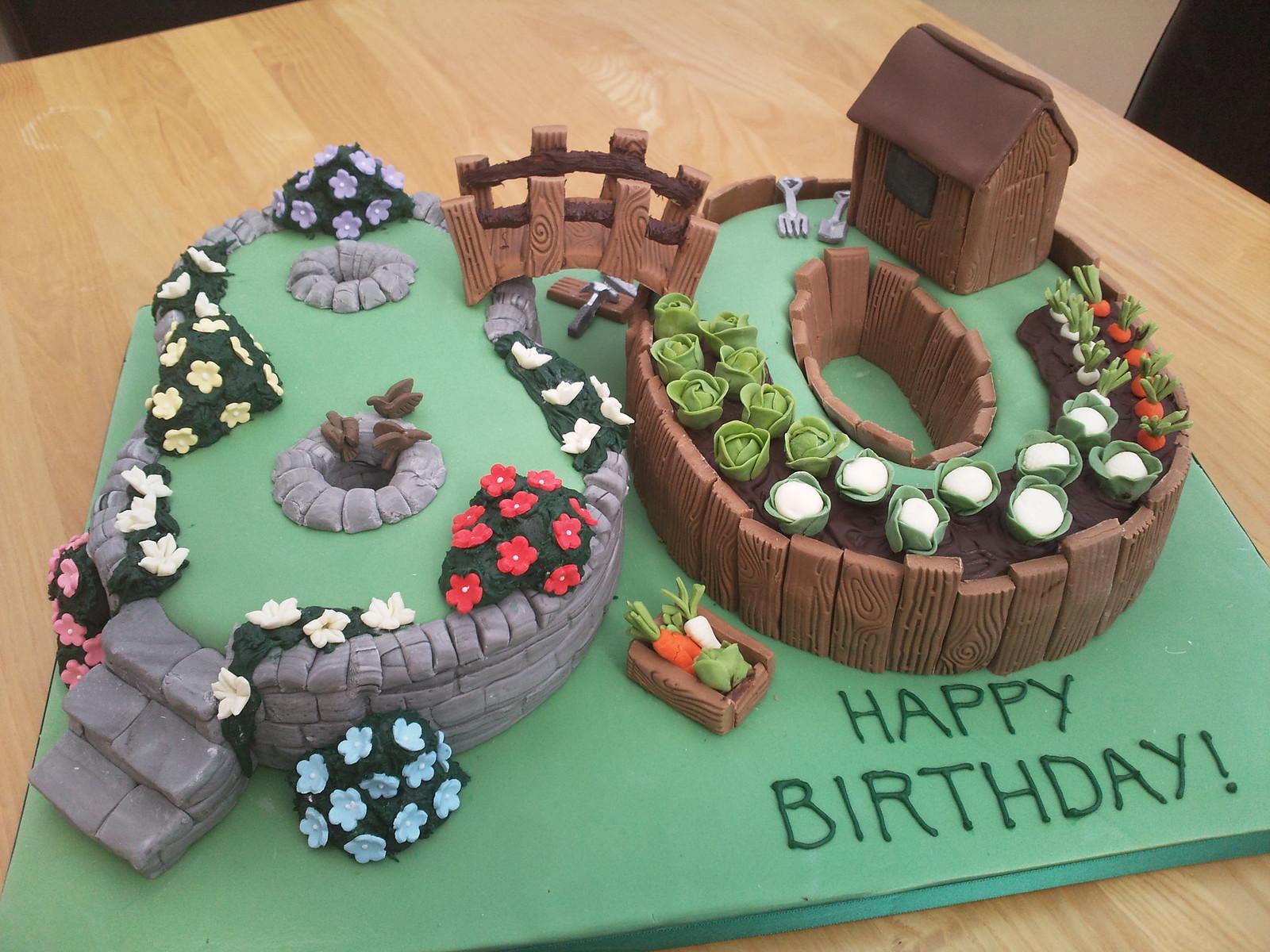 70th Garden Birthday Cake | Cake cake cake | Pinterest | Garden ...