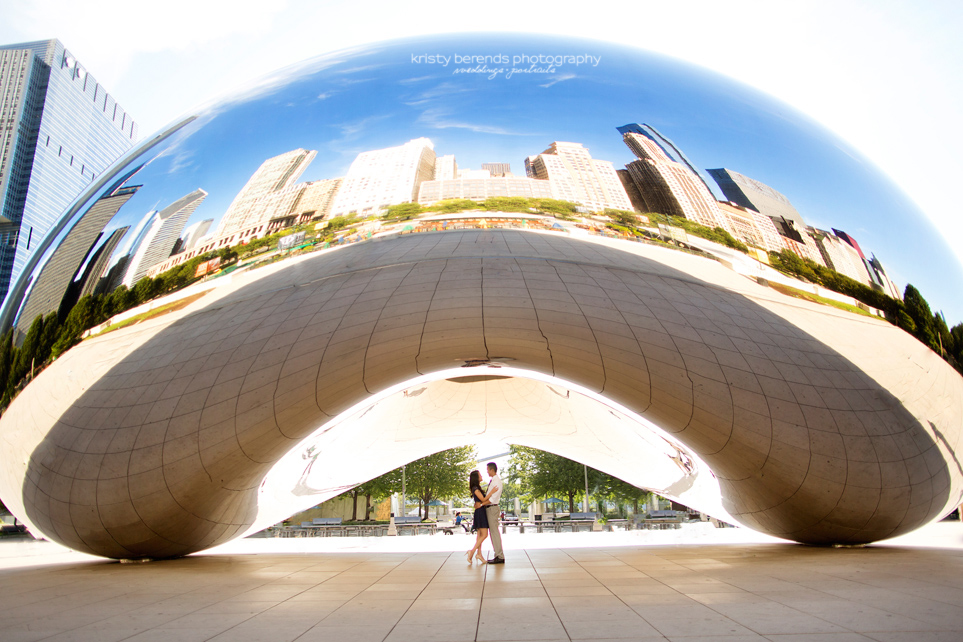 Chicago Engagement Session at the Cloudgate